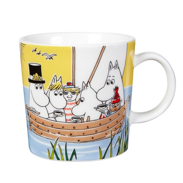 Moomin mug, Sailing with Nibling & Tooticky, by Arabia.