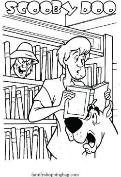 Scooby Shaggy Library Coloring Pages