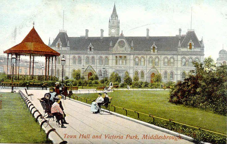 Town Hall and Victoria Park, Middlesbrough