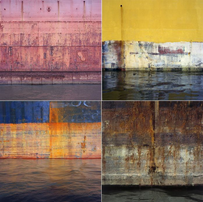 Frank Hallam Days' images of ship hulls have an almost painterly quality