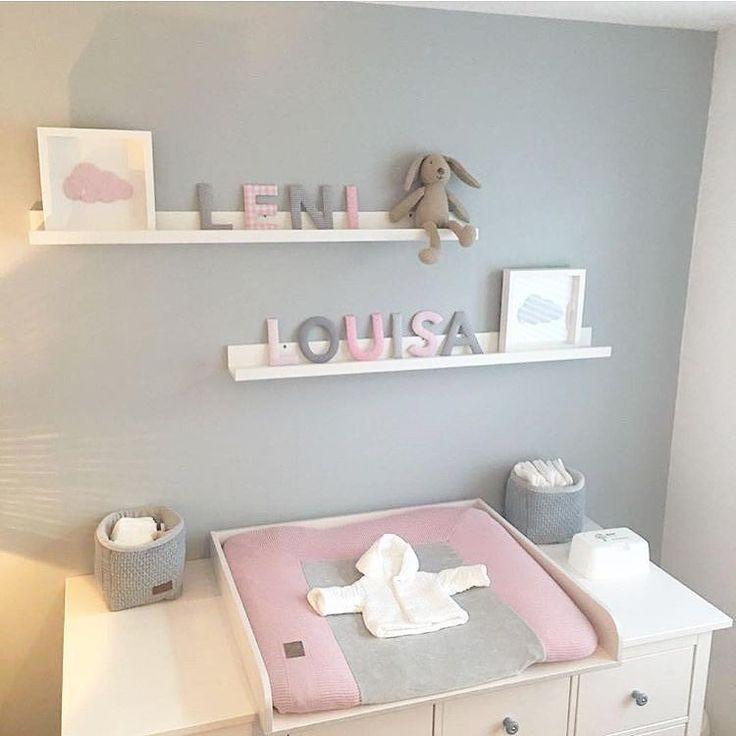 Grau Und Rosa Vielen Dank Mirjana De Fur Das Hubsche Foto Handgemacht Han Baby Girl Room Decor Baby Girl Room Baby Girl Bedroom