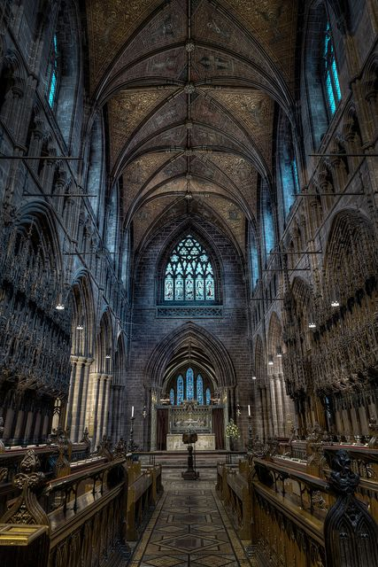 The interior of Chester Cathedral, Cheshire, in Sussex. The cathedral dates from 1093 and throughout all of this time its ministry has continued without interruption through periods of adversity such as the Dissolution of the Monasteries, the English Civil War and the two world wars.