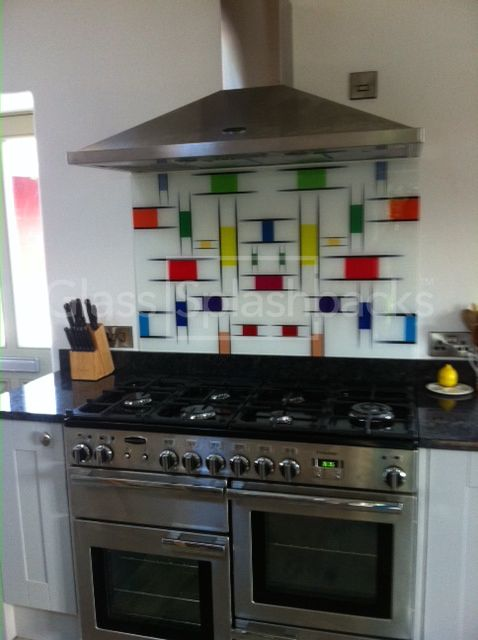 Mondrian printed glass splashback by DIY Splashbacks. Perfect above granite  upstands. Discover more from
