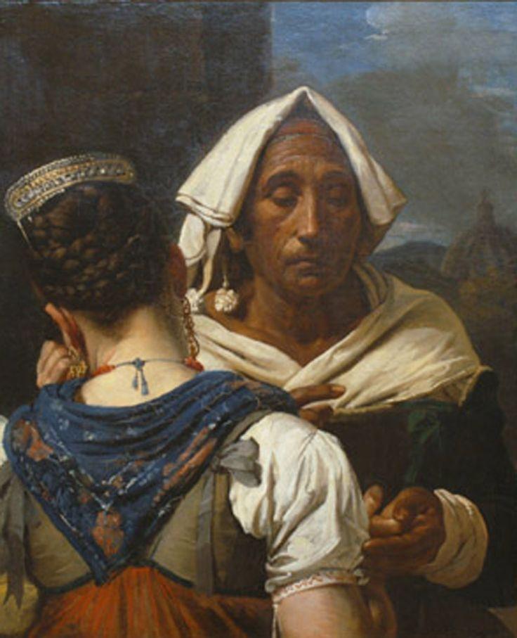 Victor Schnetz -  La diseuse de bonne aventure (c. 1820)