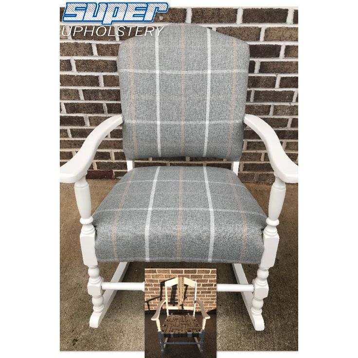 What a difference!  We replaced the foundation, foam, and recovered this antique rocker.  #SuperUpholstery #antique #rocker #restoration #atl #georgia #forsythcounty #alpharetta #fultoncounty #4locations