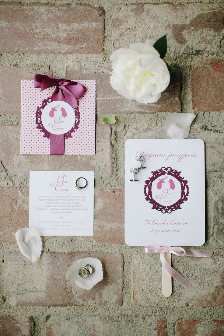 wedding invitation and programm