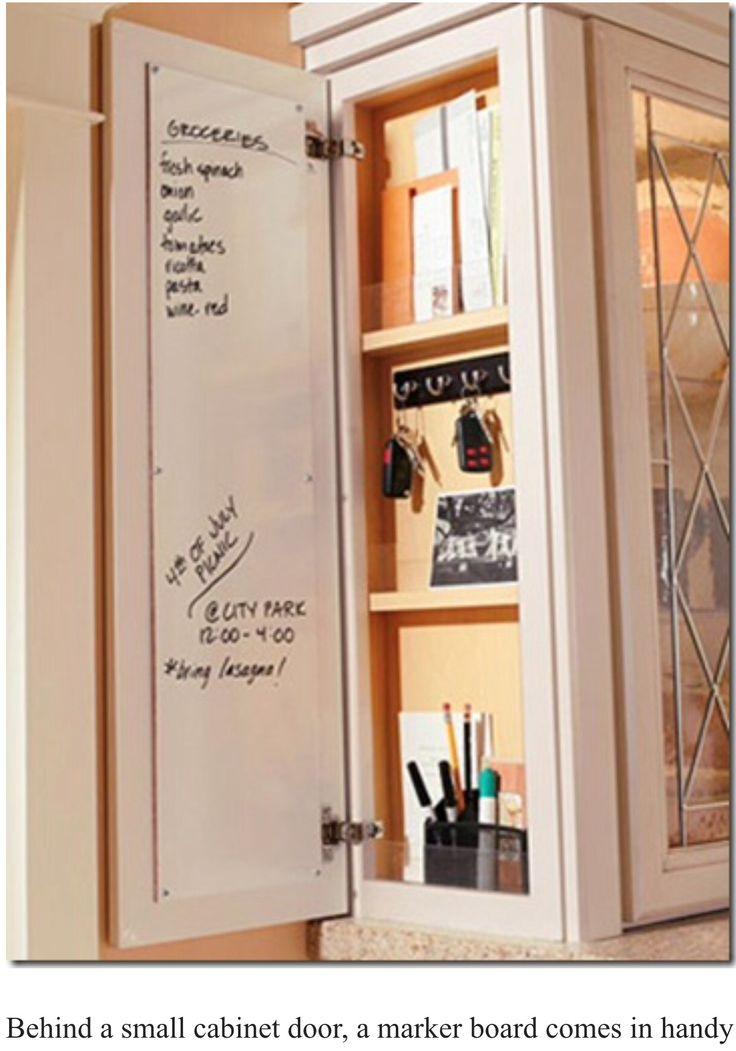 Cabinet marker board