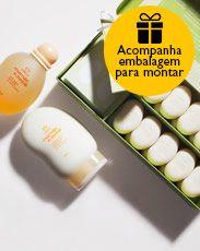Presente Exclusivo Mamãe e Bebê - Óleo para Banho + Emulsão Auxiliar + Kit Presente+ Embalagem Desmontada