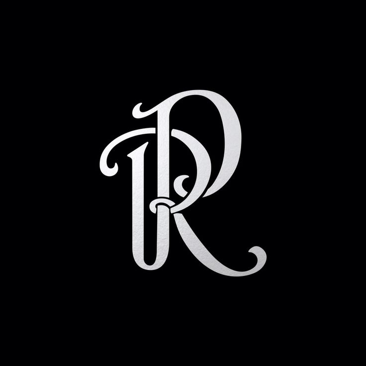 "Monotone Version Of Monogram ""RP"" Tsaritsyn Design Www"
