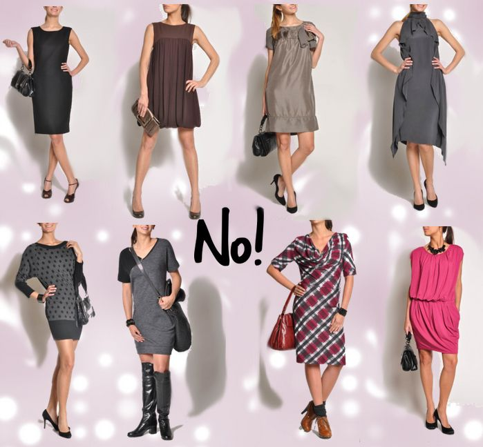 How to dress the Triangle Body Shape or Pear Shaped Woman; straight sacks and too much emphasis on the lower half