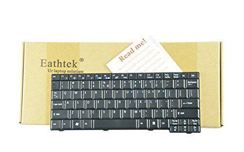 Eathtek Replacement Keyboard for Acer Aspire One AO 531h P531h A110 ZG8 ZG5 KAV10 KAV60 AOA150 AOD150 AOD250 eMachines eM-250 KB.10100.0WW AEZG5R00010 9J.N9482.01D AEZG5R00200 series Black US Layout