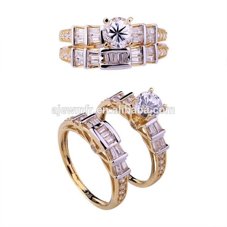 Vigselringar För Män 14k Gult Guld Två Ton Diamantringar | Diamond Rings