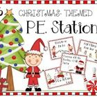 16 Christmas P.E. Stations for the elementary physical education classroom! #pestations #pe #elementarype