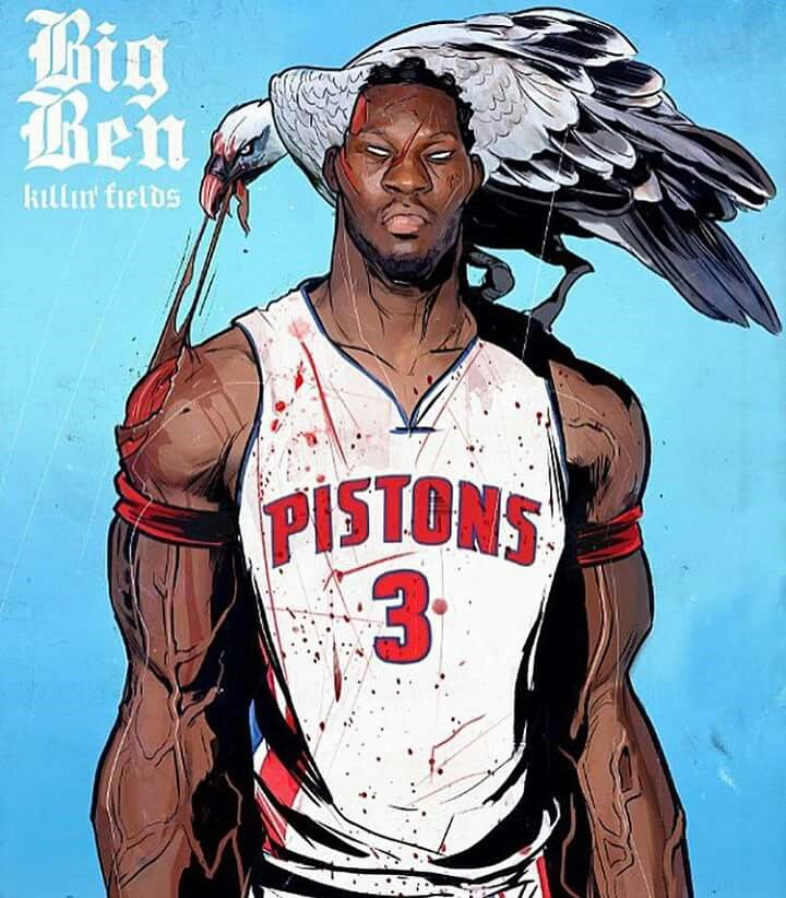 Congratulations to Ben Wallace for being nominated to be in the Naismith Memorial Basketball Hall of Fame  #Posterizes art by karmoruu