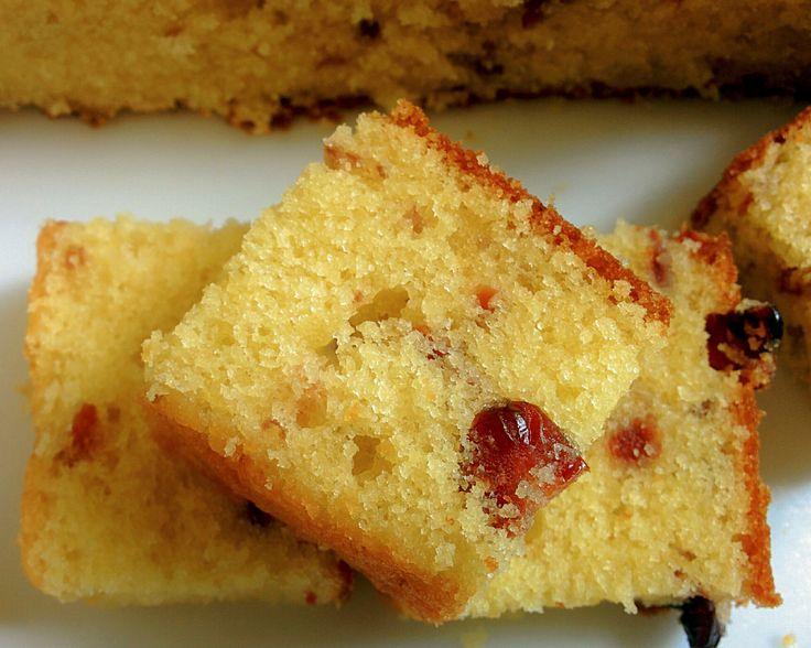 Mango cranberry butter cake - SOULFUL BAKES - by Shano Biju