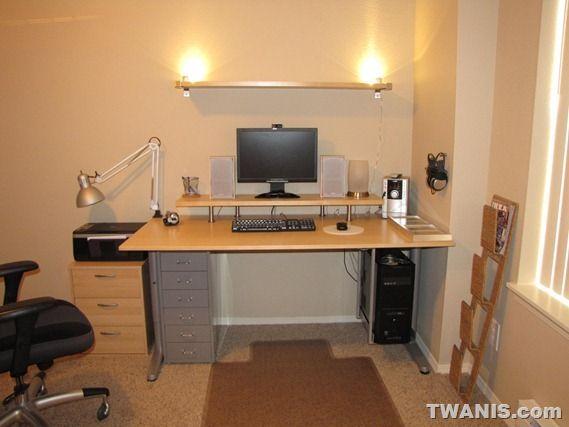 Computer desk shelf ideas for Best home office monitor setup