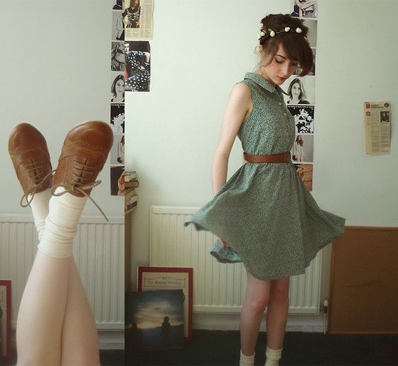: Fashion, Summer Dress, Style, Cute Dresses, Clothes, The Dress, Closet, Ankle Socks, Floral Dresses