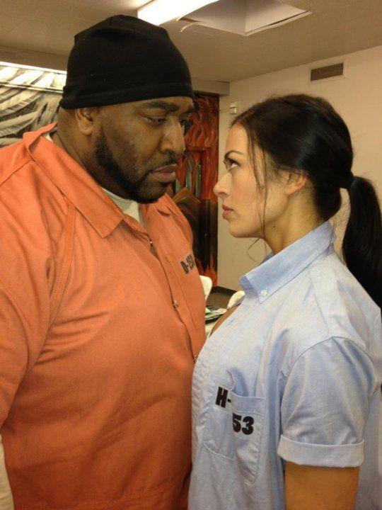 Aliyah O'Brien | Goûchy Boy and Aliyah O'Brien having a stare down before their fight ...