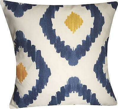Designer Mustard Blue Retro Scandinavian Funky Cushion Cover  in Home, Furniture & DIY, Home Decor, Cushions | eBay