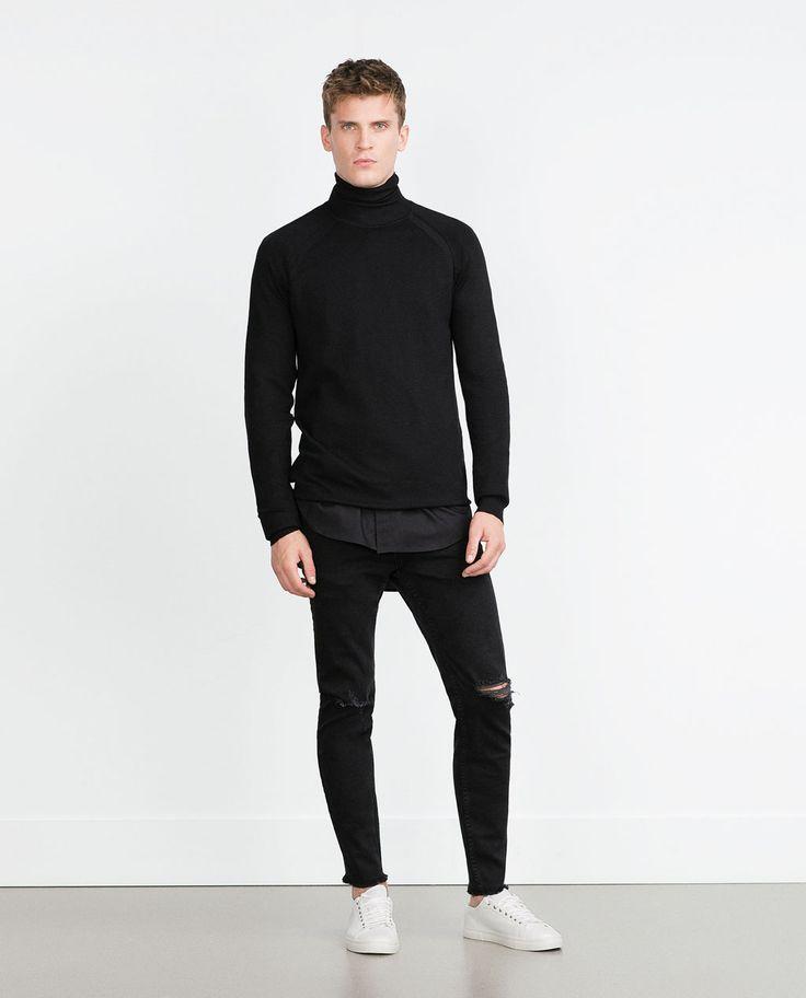 SKINNY JEANS WITH FRAYED HEM-Skinny Fit-Jeans-MAN | ZARA Germany
