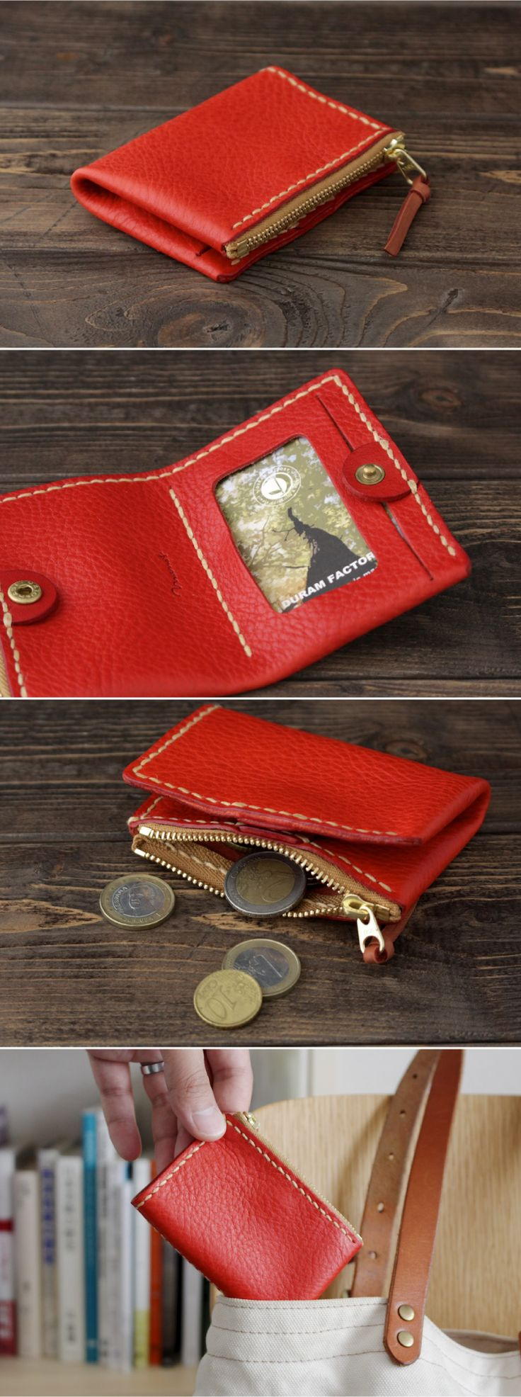 leather coin and pass case | Duram Factory