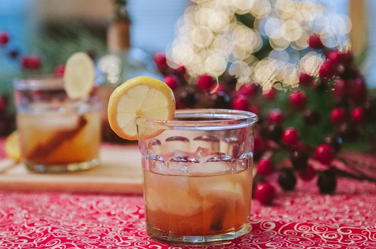 Cinnamon Maple Bourbon Sour | A Holiday Cocktail