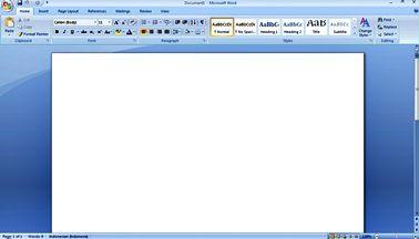 Lembar Kerja Microsoft Word 2007