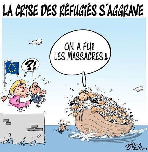 Dilem  (2015-09-27)  La crise des réfugiés s'aggrave, Fête de l'Aïd    Presse-dz