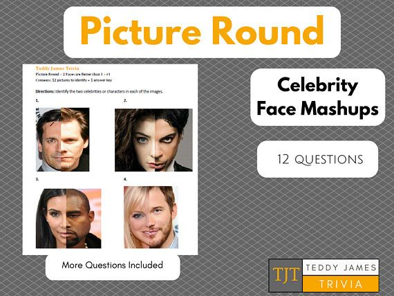 Trivia Questions Picture Round Celebrity Face Mashup 1 This Or That Questions Trivia Trivia Questions
