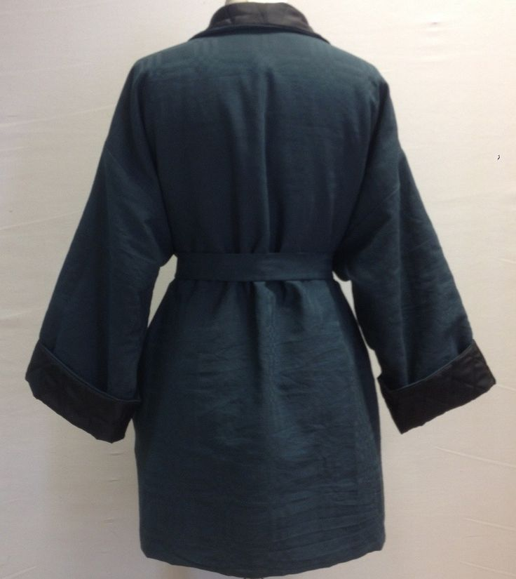 ASFALT — Sort kimono jakke med thermo foer