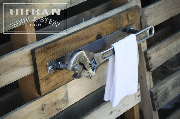 Image of Industrial Wrench Towel Rack