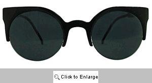 Coquette Cat Eye Sunglasses - 279 Black