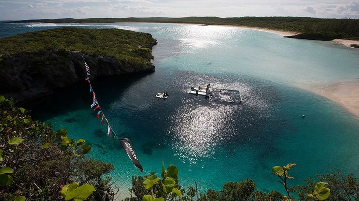 View of Dean's Blue Hole, the deepest blue hole at more than 600 feet deep, during the Suunto free diving world cup on November 22, 2012 in Long Island, Bahamas. (Samo Vidic/Getty Images)