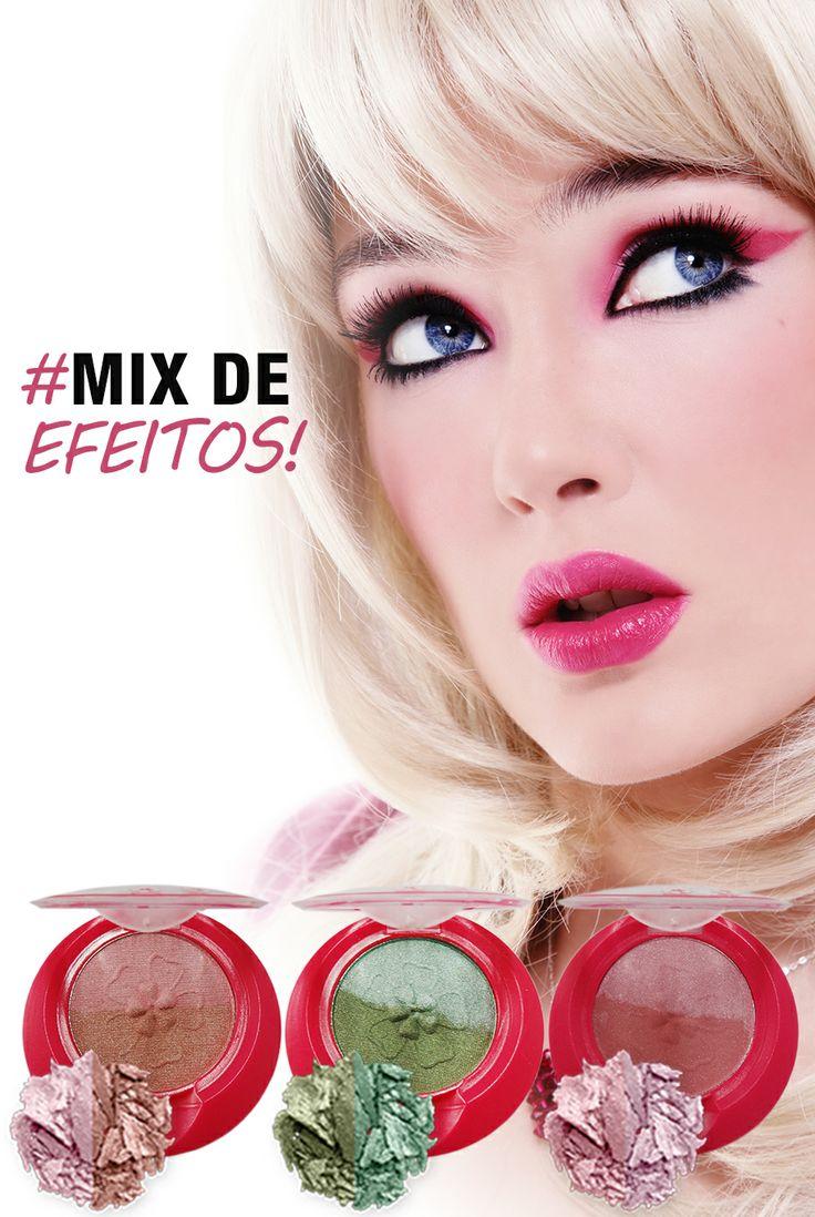 De tons rosados e verde esmeralda, o make compõe qualquer produção. www.verid…