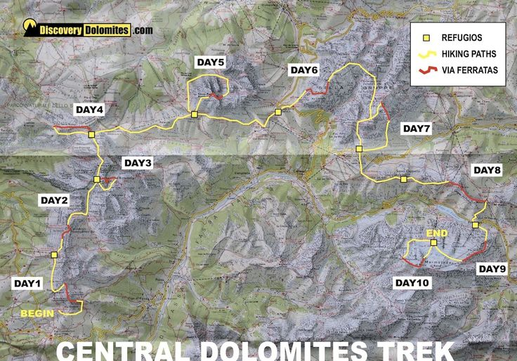 Download the general map of this via ferrata trekking