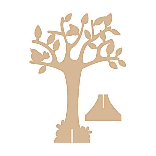 Pronty MDF Standing Tree - Bird & Rabbit