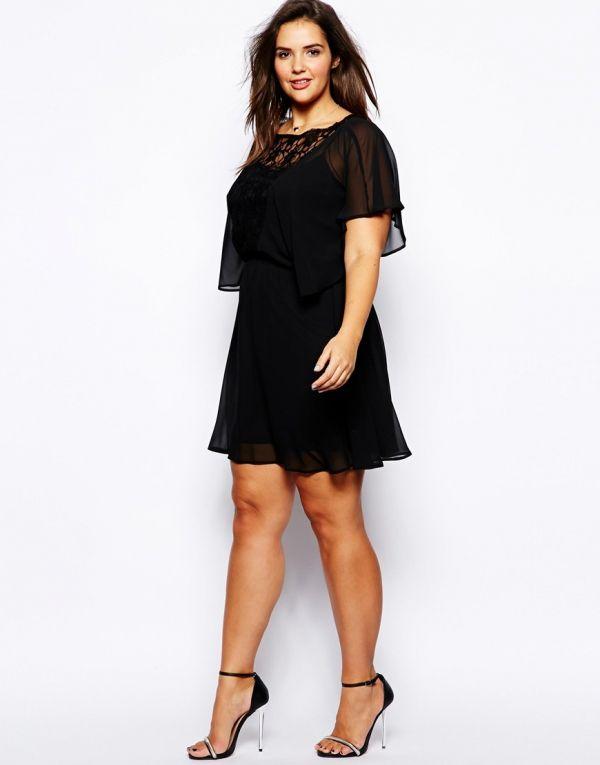 Vestido de fiesta para gorditas negro