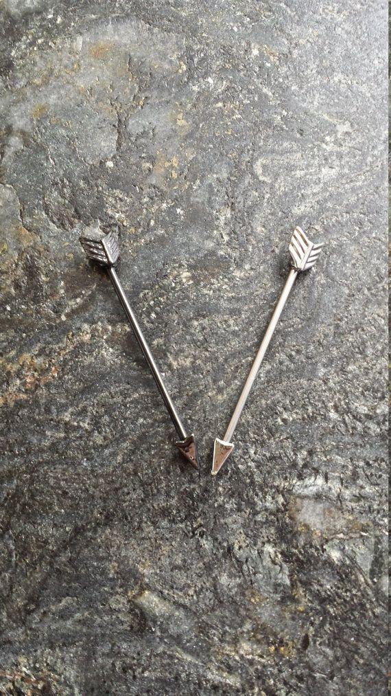 BUNDLE 2 TWO #ARROW #14g 1.6mm Industrial by FeatherBlueJewelry #piercings #piercing #industrial #barbell #scaffold #earrings #bodyjewelry #industrialpiercing #industrialbarbell #scaffoldpiercing