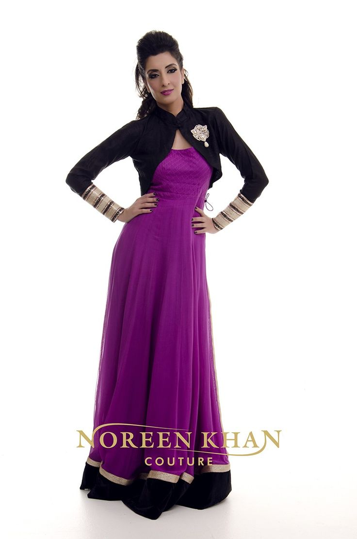 Magenta Anarkali outfit with jacket