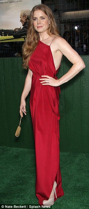 "Looking great :Amy Adams brought all the glamor to the screening in a baseball movie largely filled with male actors ""Trouble with the Curve"" premiere."