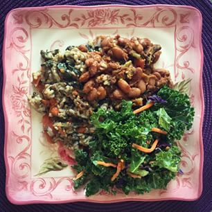 """First meal of my 22 Day Revolution!! (aka the """"Beyonce Diet"""") Can't wait to see and feel the benefits of a plant based vegan diet!"""