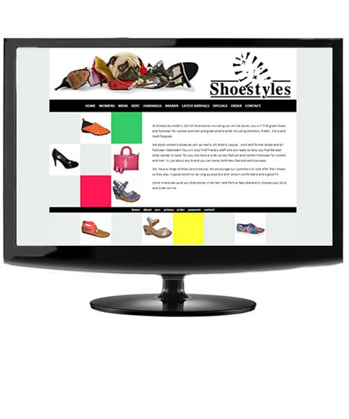 Shoestyles shoe store in Northland, selling online worldwide.