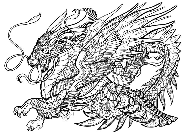 Opal Soliloquy Lineart By Rachaelm5 On Deviantart Dragon Coloring Page Animal Coloring Pages Horse Coloring Pages