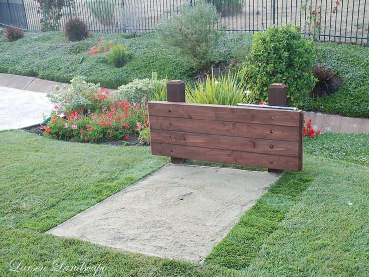 horseshoe pit ideas | Simi Valley - Garden  Horseshoe Pit -