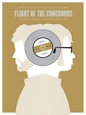 Flight of the Conchords: Flight, Jason Munn, Gig Posters, Posters Design, Graphics Design, Music Posters, Small Stakes, Concerts Posters, Conchords