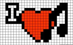 I love Music perler bead pattern