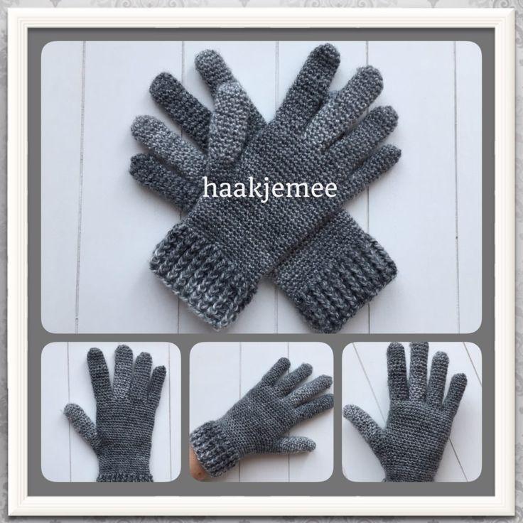 haakpatroon handschoenen gratis! Aan te passen naar je eigen maat.