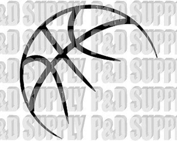 Baloncesto SVG, DXF - corte Digital archivo dxf svg Cricut o silueta