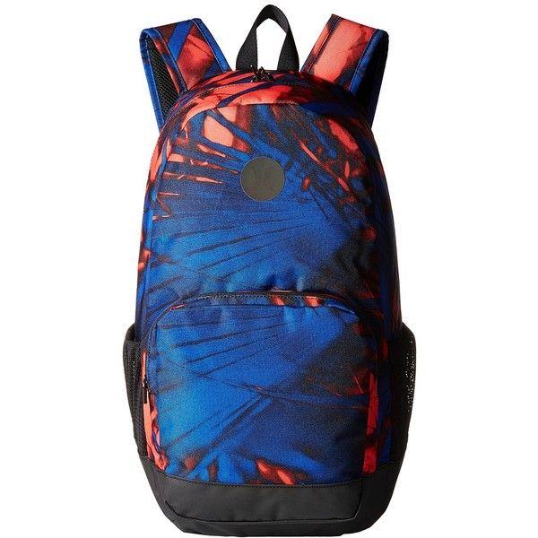 Hurley Renegade Printed Backpack (Bright Crimson/Game Royal/Black)... (110 BRL) ❤ liked on Polyvore featuring bags, backpacks, knapsack bag, mesh backpack, hurley backpacks, hurley bag and detachable backpack