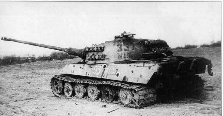 https://flic.kr/p/rYNede | Tiger II destroyed | The wounded in the side Pz.Kpfw VI Ausf. B «Tiger II», tactical number 331, the commander of the 3rd Company of Rolf von Westernhagen the 501st Tank Battalion, languid, acting as part of the 1st SS Panzer Corps. Hit battery SU-100, commanded by Captain Vasiliev (1952 nd Self-Propelled Artillery Regiment). On board the visible number (93) of captured Russian team. Hungary, near Lake Balaton